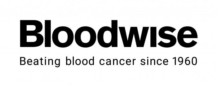 Bloodwise - Logo with strapline - Black CMYK